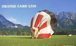 Telecarte  JAPON * SPORT * MONTGOLFIERE (1413) Hot Air Balloon * Ballon * Aerostato  * PHONECARD JAPAN * - Sport
