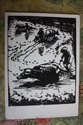 """CHINA  - Art Postcard Lee Zhun """"Rice Field""""   - Old PC 1957 - China"""