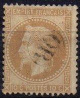 FRANCE - 10 C Type I Oblitéré OR TTB - 1863-1870 Napoléon III. Laure