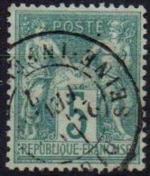 FRANCE -  5 C Oblitéré Très Bien Centré TTB - 1876-1878 Sage (Type I)