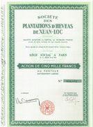 Action Ancienne - Sté Des Plantations D' Hévéas De Xuan-Loc - Indochine - Asie