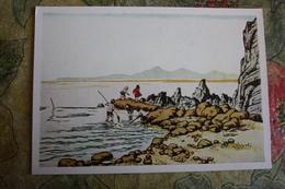 "CHINA  - Art Postcard Lee Khua ""River Low Tide""   - Old PC 1957 - China"