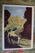 "CHINA  - Art Postcard Syao Lyn ""Mountain Road""   - Old PC 1957 - China"