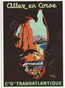 Affiche Sur Carte Postale - Allez En Corse (Edouard Collin) - Publicité