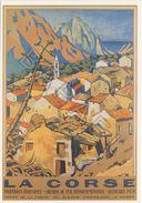Affiche Sur Carte Postale - La Corse  (Evizat) - Publicité