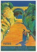 Affiche Sur Carte Postale - La Corse - Foire Exposition De Bastia (A) - Publicité