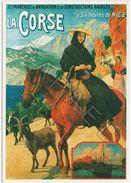 Affiche Sur Carte Postale - La Corse (Abel Brun) - Publicité
