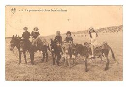 Belgische Kust / Littoral Belge - La Promenade à Anes Dans Les Dunes - Kinderen - Ezel - Uit Blankenberge - 1912 - Belgique