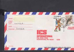 ZAMBIA  1990 - Lettera Per Gli USA - Sport - Calcio - Zambia (1965-...)
