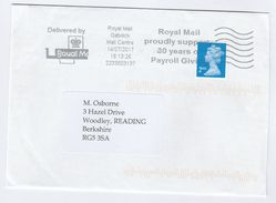 2017 Gatwick GB Stamps COVER SLOGAN Pmk 30 YEARS OF PAYROLL GIVING ROYAL MAIL - 1952-.... (Elizabeth II)