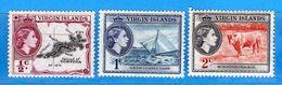(Mn1) VIRGIN ISLAND *-1956 - ELIZABETH II . Yvert. 113-114-115.  MH.  Vedi Descrizione. - British Virgin Islands