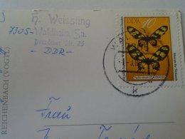 D153424  Stamp   Butterfly  Papillon Schmetterling  DDR Waldheim   H.Weissling - Schmetterlinge