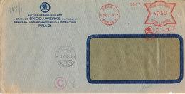 Bohemia & Maravia Nazi Censored Cover With Meter Cancel Prag 12-11-1940 - Böhmen Und Mähren