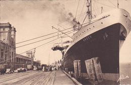 "Cpa-50- Cherbourg -accostage Du Paquebot ""andes"" En Gare Maritime-edi Becquemin N°30E - Cherbourg"