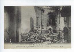 CPA La Grande Guerre 1914-15 Vue Intérieure De L'Église D'Hebuterne N° 365 - Oorlog 1914-18