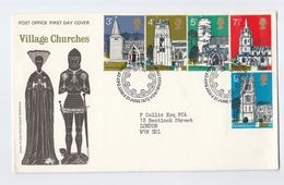 1972 GB FDC CHURCHES Stamps Cover Church Religion Christianity - FDC