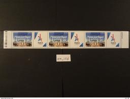 """FRANCE 2017 0,73 """"VENEZ PARTAGER"""" PARIS VILLE HOTE JEUX OLYMPIQUES DE 2024, SURCHARGE """" 13 01 2017  LIMA """" Avec Vignette - Neufs"""