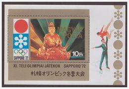 1101 Hungaria 1972 Olympiq Kunstschaatsen Figure-skating SapporoS/S MNH - Winter 1972: Sapporo