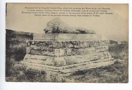 CPA Guerre 1914 1918 Monument De La Chapelle Sainte-Fine - Oorlog 1914-18