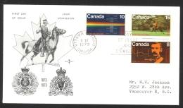 Canada Sc# 612-614 Ottawa CXL (Rose Craft Cachet) FDC Combination (d) 1973 03.09 RCMP Centenary - Premiers Jours (FDC)
