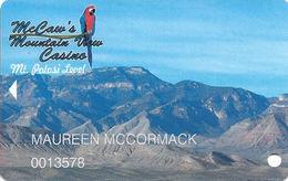 McCaw's Mountain View Casino - Pahrump, NV USA - Slot Card - Casino Cards