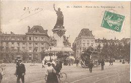 Paris Place De La Republique-1910-belle Animation - Arrondissement: 11