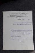 Lettre Ancienne - LIMOGES - Syndicat D'expansion Et D'exportation De La Race Bovine LIMOUSINE. - Agriculture