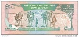 SOMALILAND P.  1a 5 S 1994 UNC - Billets
