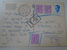 D153460   Belgium Postage Due  PORTO  Stamp  Handstamp Wiesbaden  -to Hungary  Budapest   -Bruxelles - Postage Due