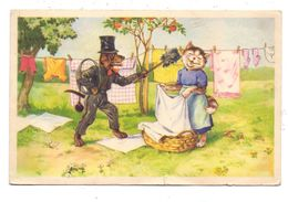 KATZEN / Cats / Chats / Katten / Gatti / Gatos - Katz Und Hund, Schornsteinfeger / Chimney Sweeper / Ramoneur, AF - Gatos