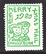 US.  BANNOCKBURN  SCHOOL  1980  CHRISTMAS  POST    ** - United States