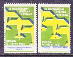 CZECHOSLOVAKIA  AIR SHOW  1927  *  AEROPHILATELIC  LABEL - Airmail