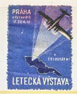 CZECHOSLOVAKIA  AIR SHOW   1937  *  AEROPHILATELIC  LABEL - Airmail