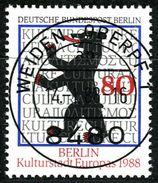 Berlin - Mi 800 - Zentrisch OO Gestempelt (A) - 80Pf  Kulturhauptstadt Europas - Berlin (West)