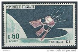 """FR YT 1476 """" Lancement Satellite D1 """" 1966 Neuf** - France"""