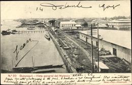 Cp Guayaquil Ecuador, Vista General Del Malecón, Hafenpartie, Bahnstrecke - Ecuador
