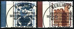 Berlin - Mi 798 / 799 - Zentrisch OO Gestempelt (C) Randmarken - 10-300Pf Sehenswürdikeiten II - Berlin (West)