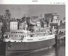 1972 - Héliogravure - Dieppe (Seine-Maritime) - Le Car-ferry à Quai - FRANCO DE PORT - Vieux Papiers