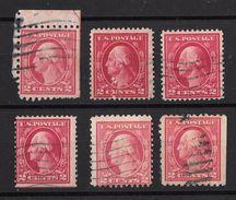 Timbres Des Etats-Unis 1912- 15     '    Yvert  N° 183   '    2 C. Carmin,  Président Washington - Oblitérés