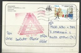 ITALIA REPUBBLICA ITALY REPUBLIC 1998 DOLOMITI PASSO GARDENA PANORAMA CARTOLINA POST CARD VIAGGIATA - Bolzano