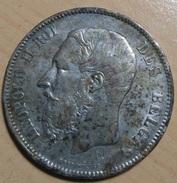 5 FRANCS 1869 - 1865-1909: Leopoldo II