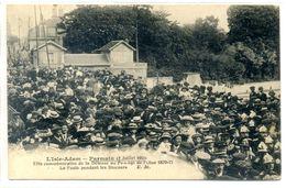 95 - L'ISLE ADAM - PARMAIN: 2 Juillet 1911 - Fête Commémorative De La Défence Du Passage De L'Oise 1870-71 - L'Isle Adam