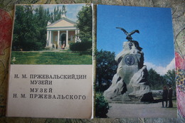 Kyrgyzstan.  Przhevalsky  Museum  At Karakol City - Rare Old USSR Postcard Set - 8 PCs Lot 1970 - Kirghizistan