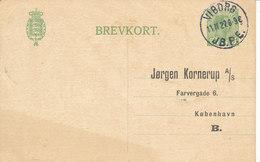 Denmark Lettercard Viborg JB. P.E. 11-11-1927 Sent To Copenhagen - 1864-04 (Christian IX)