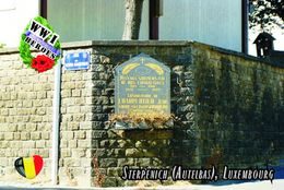 Carte Postale, Militaria, Monuments,  World War I Monuments, Belgium (Luxembourg), Sterpenich (Autelbas) 2 - War Memorials