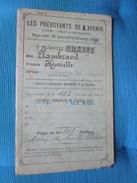 Les Prevoyants De L'Avenir. Caisse Civile De Retraites. Livret A Presenter Ouvert A La Recette. No. Matricule 142.191 - Décrets & Lois