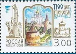 Russia 2003 Pskov Kremlin 1100th Ann Architecture Cathedral Ancient Town Region Geograpy Place History Stamp Michel 1092 - Easter
