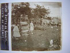 Plaque Photo Stereo Stereoscopique Ww1 1914-18 Militaire Marne Butte De Souain Effets De Marmite 873 - Guerre, Militaire
