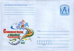 Belarus 2013 Regular Stationery Cover Slav Bazar Vitebsk Music Song Fest MNH - Belarus
