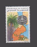 DJIBOUTI FAO 1945 - 1995 50 YEARS ANNIVERSARY WFO Palm Tree Palmier 1995 Yvert YT 719F MICHEL Mi 617 MNH ** RARE - Djibouti (1977-...)